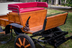 Wooden retro carriage Stock Image
