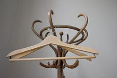 Wooden retro hangers Stock Photography