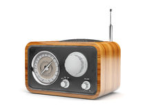 Wooden retro radio Royalty Free Stock Photos