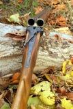 A wooden retro shotgun Stock Photos