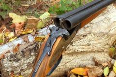A wooden retro shotgun Royalty Free Stock Photo