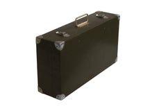 Wooden retro suitcase Stock Photo