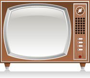Wooden retro tv Stock Images