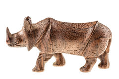 Wooden rhino figurine Royalty Free Stock Photography