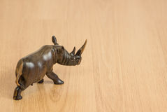 Wooden Rhino Stock Image