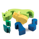 Wooden rhino toy Stock Photography