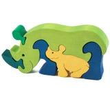 Wooden rhino toy Royalty Free Stock Photos