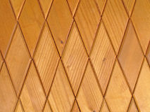 Wooden rhombus tiles.Background Royalty Free Stock Photos