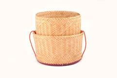Wooden rice box thai style Stock Image