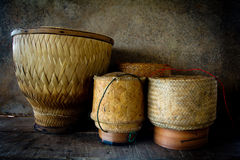 Wooden rice box thai style still life Stock Photography