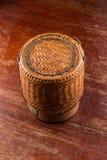 Wooden rice box thai style Royalty Free Stock Photo