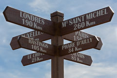 Wooden Road sign Royalty Free Stock Image