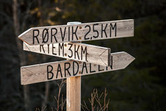 Wooden Road sign Stock Photos