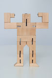 Wooden Robot Toy Royalty Free Stock Images