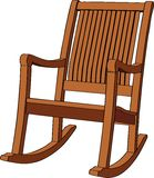 Wooden rocking armchair. On white background. Vector illustration Royalty Free Stock Images