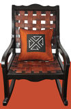 wooden rocking chair Royalty Free Stock Images