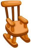 Wooden rocking chair Stock Photos