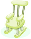 Wooden rocking chair. Illustration of isolated wooden rocking chair on white background stock illustration