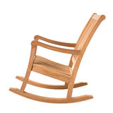 Wooden rocking chair Royalty Free Stock Image