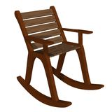 Wooden rocking chair front-side view Stock Images