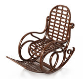 Wooden rocking chair isolated on white background. 3D illustration.  Stock Photography