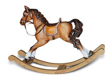 Wooden rocking horse stock image