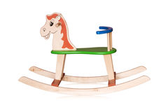 Wooden rocking horse Royalty Free Stock Photos