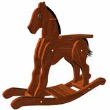 Wooden Rocking Horse Stock Photo
