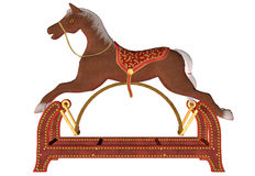 Wooden Rocking Horse Royalty Free Stock Photo