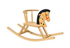 Wooden rocking horse Royalty Free Stock Images