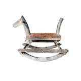 Wooden rocking horse chair Royalty Free Stock Photo