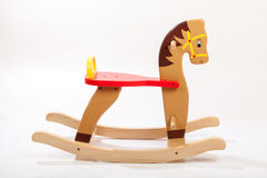Wooden rocking horse Stock Images