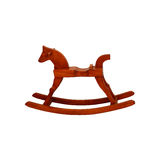 Wooden Rocking Horse  isolated on white background Stock Image