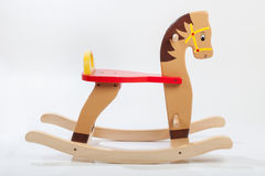 Wooden rocking horse. Toy Royalty Free Stock Image