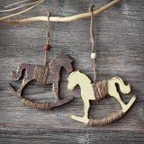 Wooden rocking horses Stock Photography