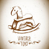 Wooden Rocking Horses Royalty Free Stock Images
