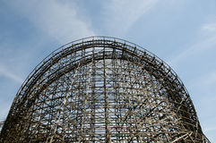 Wooden Roller Coaster royalty free stock photo