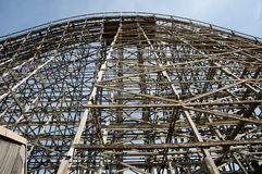 Wooden Roller Coaster royalty free stock photography