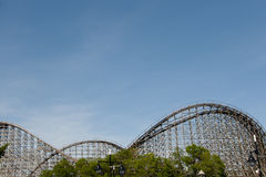 Wooden Roller Coaster Royalty Free Stock Image