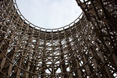 Wooden Roller Coaster Structure Stock Photo