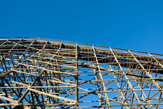 Wooden Rollercoaster Royalty Free Stock Images