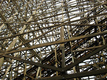 Wooden rollercoaster Royalty Free Stock Image
