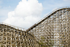 Wooden rollercoaster, Sevenum, The Netherlands royalty free stock images