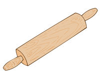 Wooden rolling-pin. Royalty Free Stock Images