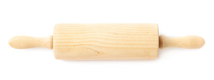 Wooden rolling-pin isolated Stock Photos