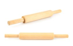 Wooden rolling pin Stock Image