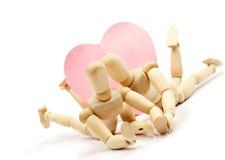 Wooden romance 4 Stock Image