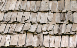 Wooden roof. Texture of old wooden roof Stock Photography