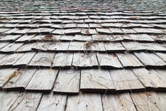Wooden roof. Natural materials.The roof is made of wood Royalty Free Stock Photos