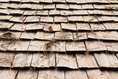 Wooden roof. Brown shingle house in Thailand Stock Image